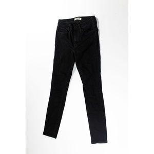 Madewell Roadtripper Skinny Jeans Bennett Black 24